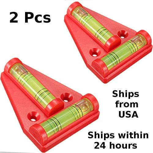Gowsch 2 Stück RV T-Wasserwaage Wasserwaage Cross-Check Levels 2-Wege Wasserwaage für Wohnmobile Maschinen Möbel Anhänger Stative
