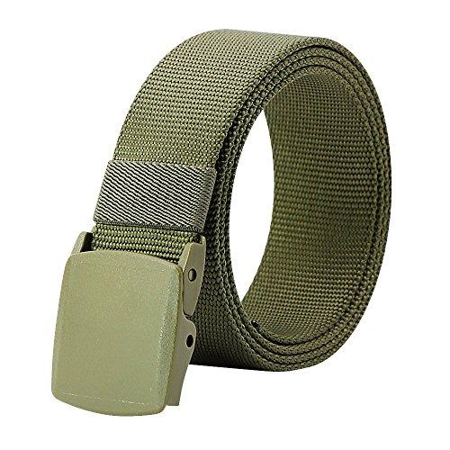 """Kusun Nylon Hombres Cinturón Táctico Cinturón Transpirable Correas Verde Acolchada Deportes Aire Libre Estilo Militar Complemento YKK 49,2"""" BE058-G"""