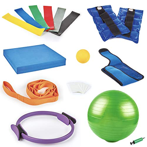 Knee Rehab Equipment. Knee Replacement Occupational & Physical Therapy Aids: Stretching Strap, Foam Balance Pad, Knee…
