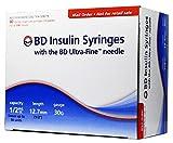 BD Ultra-Fine Insulin Syringes 30G 1/2 cc 1/2 inch 90/bx