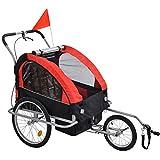 GT-LYD Carrito Remolque Infantil para Bicicleta,Remolque Infantil Doble Bebé Bebé Bicicleta Multifuncional
