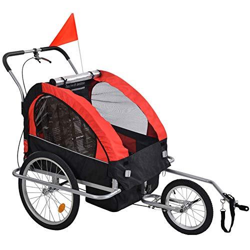 GT-LYD Kinderanhänger Fahrradanhänger Kinder,Doppelbaby Baby Fahrrad Kinderanhänger Multifunktional