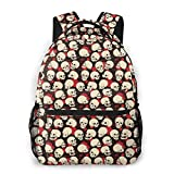 LNLN Mochila Casual para niñas Skull Seamless Laptop Backpack School Backpack for Men Women Lightweight Travel Casual Durable Daily Daypack College Student Rucksack 11 5in X 8in X 16in