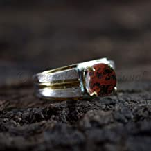 Bird Eye Jasper Ring-925 Sterling Silver-Jasper Stone Ring-Jasper Ring-Boho Jewelry-Bezel Ring-Women Rings-March Birthstone-Gifts For Her