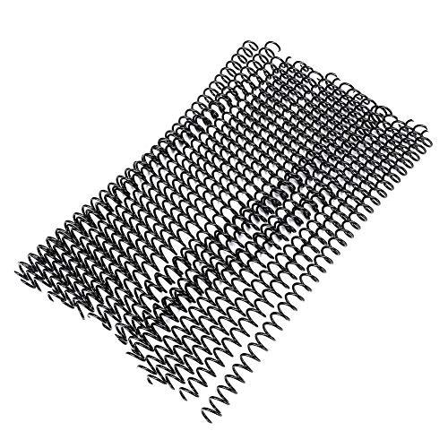 Anillo de hojas sueltas - Anillos en espiral para papel A4 20 piezas 30 agujeros Anillo de encuadernación de plástico de hojas sueltas Resorte(11mm -negro)