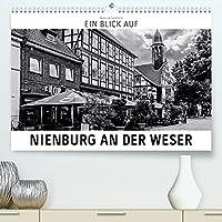 Ein Blick auf Nienburg an der Weser (Premium, hochwertiger DIN A2 Wandkalender 2022, Kunstdruck in Hochglanz): Ein ungewohnter Blick auf Nienburg in harten Schwarz-Weiss-Bildern. (Monatskalender, 14 Seiten )
