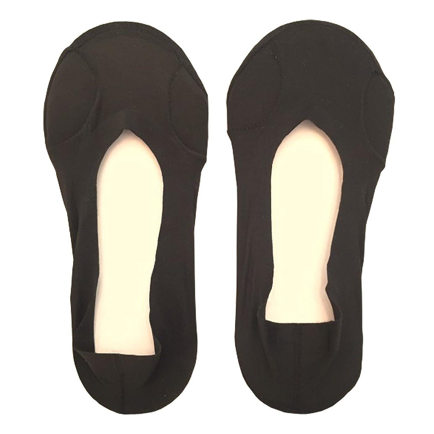 医療のクレーン懸念DrScholl(ドクターショール)靴ずれ防止フットカバー 指両側クッション付き 8805DR-07 ブラック
