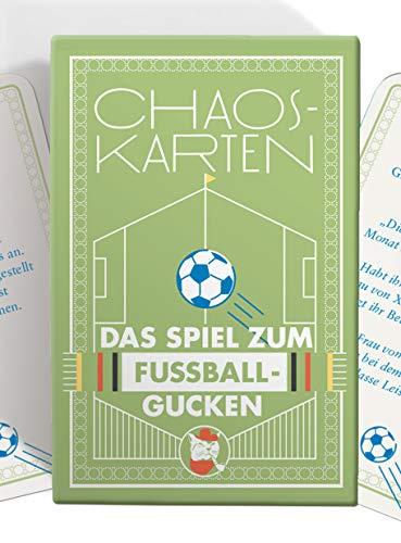 Chaoskarten Fußball Edition – Das Spiel zum Fußball gucken – 51 Aufgaben – Das Original