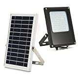Solar Powered Led Flood Light,JPLSK 120Leds 800Lumen IP65 Waterproof Outdoor Security Flood Light Fixture for Flag Pole, Sign, Garden, Farm, Shed, Boat, Camping, Garage,Auto-on Off Dusk to Dawn