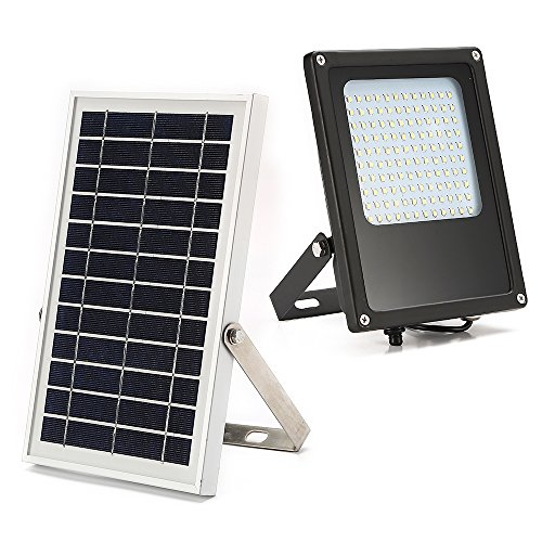 Solar Powered Led Flood Light,JPLSK 120Leds 800Lumen IP65 Waterproof Outdoor Security Flood Light Fixture for Flag Pole, Sign, Garden, Farm, Shed, Boat, Camping, Garage,Auto-on/Off Dusk to Dawn