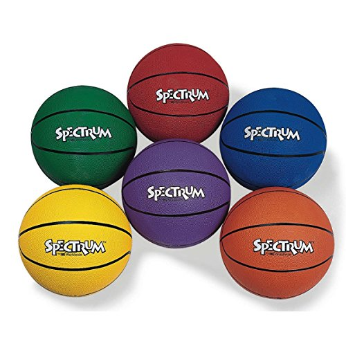 Amazing Deal Spectrum LYSB00IGIRXSU-ELECTRNCS S and S Worldwide Rubber Basketball Set, Intermediate ...