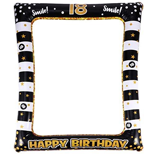 Amosfun 18. Geburtstag Photo Booth Prop aufblasbarer Bilderrahmen Lustiger Selfie Objekte für die Dekoration des Geburtstags 13 Jahre