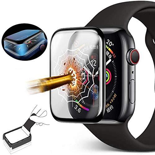 Protector de pantalla para Apple Watch de 40 mm de la serie 4/5,3D, cobertura completa de TPU, protección completa de 360°, con protector de pantalla para iWatch Serie 4/5 (instalación sencilla)