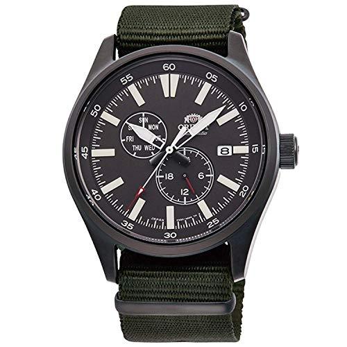 "ORIENT""Defender 2"" Sports Automatic Black IP Military Green Nylon Watch RA-AK0403N"