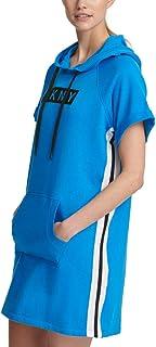 DKNY Sport Logo Hoodie Dress-S-Blue