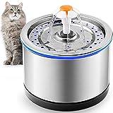 PUPPY KITTY Fontana per gatti in acciaio inossidabile da 2,5 litri, filtrazione a 4 stadi,...