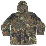 Chaqueta original del ejército alemán, GORE-Tex, totalmente impermeable, chaqueta de camuflaje Parka Flecktarn grado 1 Flecktarn Large