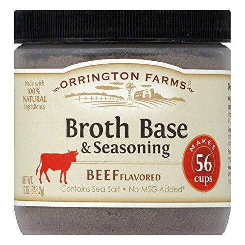 PACK Denver Mall OF 12 - Orrington Farms Beef Finally popular brand Flavored Base Seasonin Broth