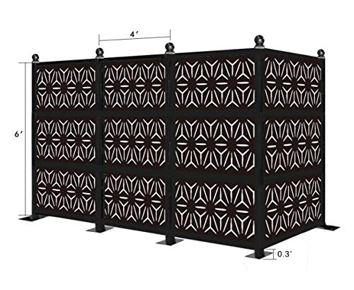 For Sale! eco Panel Laser Cut Decorative Steel Privacy Panel/Metal Fencing/Freestanding Modular Meta...