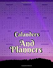 Calanders And Planners: Family Desk Planner Calendar 2020, Calendar Schedule Organizer and Hand Lettering Notebook January - December  Phone book, U.S. Holidays
