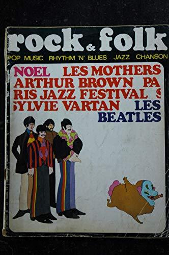ROCK & FOLK 023 n° 23 DECEMBRE 1968 COVER LES BEATLES LES MOTHERS ARTHUR BROWN SYLVIE VARTAN
