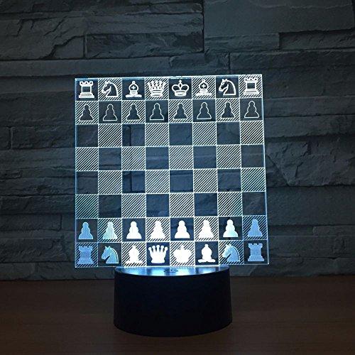 jiushixw 3D acryl nachtlampje met afstandsbediening van kleur veranderende tafellamp koning zilver Bundesregierung veiligheid digitaal voor vrienden geschenk lamp accessoires