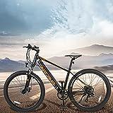 Bicicleta Eléctrica para Adultos 250 W Motor Mountain Bike de 27,5 Pulgadas E-Bike MTB Pedal Assist Shimano 7 Velocidades Hombres Mujeres con Instrumento LCD Central & Autonomía Buena