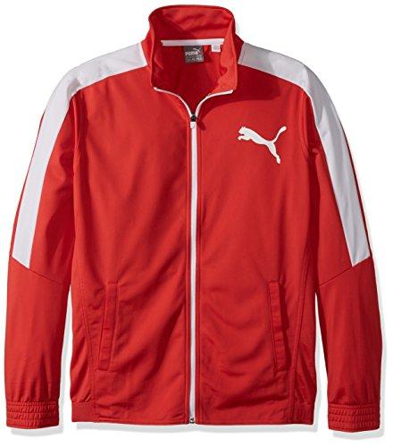 PUMA Contrast Jacket Chaqueta, Flame Scarlet Blanco, XXXL para Hombre