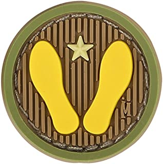Maxpedition 1 x 1 Yellow Footprints Patch