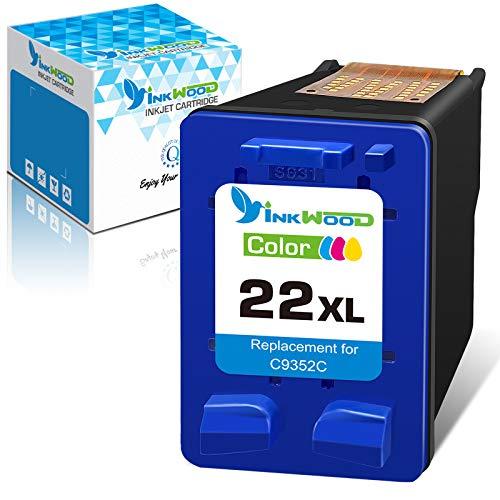 Inkwood 21XL 22XL Compatible para HP 21 22 XL Cartuchos de Tinta, para HP PSC 1410, Officejet 4315, Deskjet 3940 D1530 D2360 D2460 F380 F2180 F2224 F4180