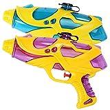 Yissma Wasserpistole Spielzeug 200ml mit 5 Meter Schießstand Water Gun Water Blaster für Sommerpartys, Strand, Pool, Garten Strandspielzeug 2 Stück