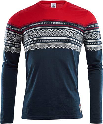 Aclima DesignWool Marius Light T-Shirt Manches Longues à col Ras-du-Cou en mérinos Homme, Original Modèle S 2019 t Shirt Manches Longues