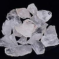 LWQJP 天然クリスタルクォーツミネラル標本アメジストローズクォーツ不規則な形ラフロックストーンホーム装飾 (Color : White quartz, Size : 100g)