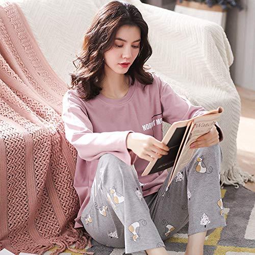 Sleepwear Ladies Set, Women's winter cotton home wear pajamas,-QXS8804_XXXL, Pajamas Set for Women Cotton