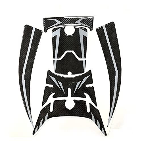 Pegatina de Almohadilla NMAX 155 Pegatinas Laterales Decorativas para Pedales De Motocicleta para Nmax 2020 5D Pegatina (Color : Silver)