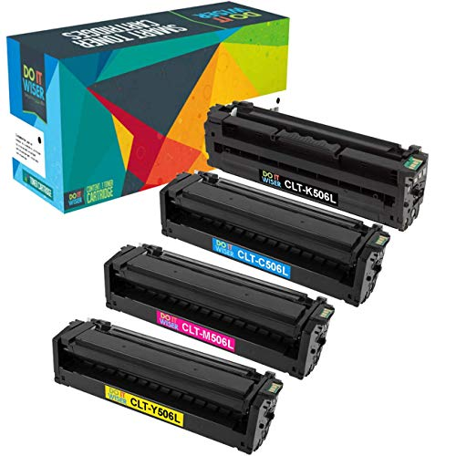 Do it Wiser Compatible Toner Cartridge Replacement for Samsung CLP-680 CLP-680ND CLP-680DW CLX-6260 CLX-6260FW CLX-6260ND CLX-6260FD - CLT-K506L CLT-C506L CLT-M506L CLT-Y506L - 4Pack, High Yield