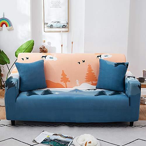 ASCV Fundas de sofá Strech Fundas de sofá elásticas para Sala de Estar Funda de sofá Antideslizante con Todo Incluido Esquina en Forma de L A4 4 plazas