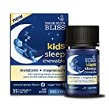 Mommy's Bliss Kids Sleep Chewable Tablets, Melatonin & Magnesium with Calming Herbs to Support Child's Natural Sleep, Natural Grape Flavor, Sugar Free, 35 Servings