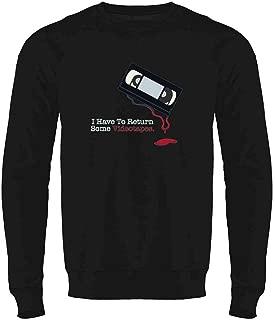 Pop Threads I Have to Return Some Videotapes Crewneck Sweatshirt for Men