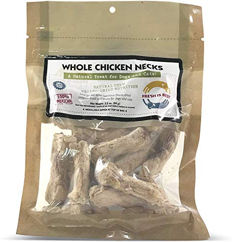 Fresh Is Best Freeze Dried Pet Food Treats - 3 Pack - Dog and Cat - All Natural Chicken Necks