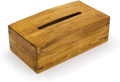 ティッシュケース 木製 国産桧無垢材使用の手作りティッシュボックス (メイプル色) (オイルステイン塗装) W25xD13xH8cm 日本製 受注生産品 オージージャパン