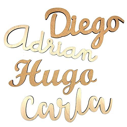 Nombres de madera personalizados para decoración hogar, habitación infantil niño niña   Regalo original eventos   Decoración Letra madera para puerta o pared