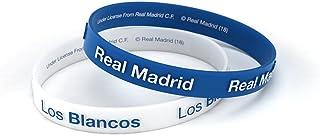 Pulsera Real Madrid Club de Fútbol Relieve Azul y Blanca Junior para Mujer y Niño Pulsera de Silicona Producto Oficial