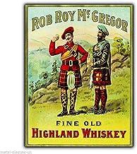 Placa de pared de metal sin marca Rob Roy Macgregor, whisky escocés vintage Pictur