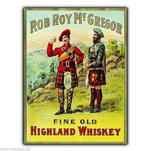 None Brand Metallschild Rob Roy Macgregor Scotch Whisky Vintage Bild