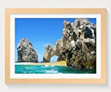 PUPBEAMO Cabo San Lucas, Mexico - Art Print Wood Frame Picture Prints Wall Art Home Decoration - (Wood Color,16x12 Inches)