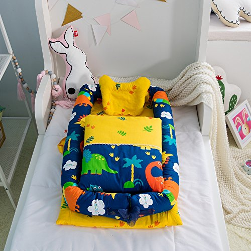 Cuna desmontable y plegable con edredón para bebé, se puede poner en