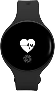 Smartwatches,Reloj Deportivo Impermeable Pulsómetro Anillo de la Mano Inteligente Multifunción Contador de Pasos Mesa electrónica Circular Hombres y Mujeres Estudiante -A