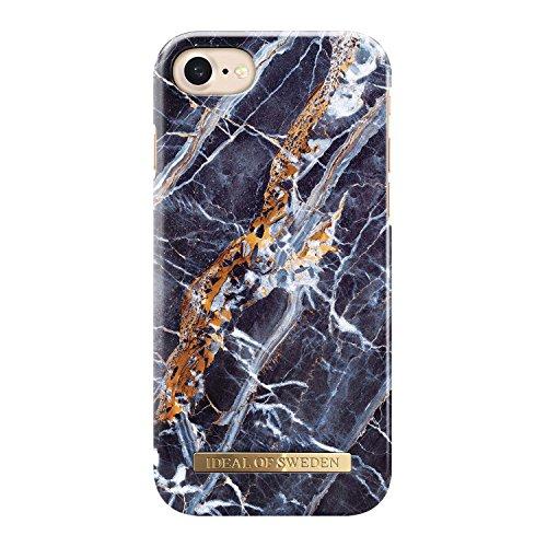 iDeal Of Sweden Midnight - Carcasa para iPhone 8/7/6/6S, diseño de mármol, Color Azul
