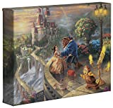 Thomas Kinkade Disney Beauty and the Beast Falling in Love 8 x 10 Gallery Wrapped Canvas